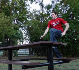 Parkour Vault Over Picnic Table Calgary