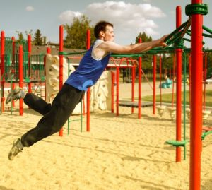 Parkour Jump In The Playground