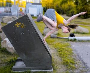 Parkour Girl Wall Spin Calgary